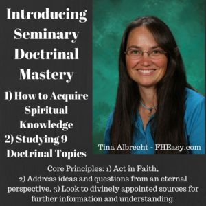 Free FHEasy Lesson: Seminary and Doctrinal Mastery Scriptures